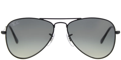 Ray-Ban Junior RJ 9506S 220/11 Aviator Metal Black Sunglasses with Grey Gradient Lens