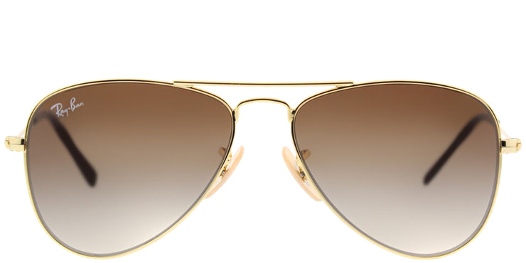 Ray-Ban Junior RJ 9506S 223/13 Aviator Metal Gold Sunglasses with Brown Gradient Lens