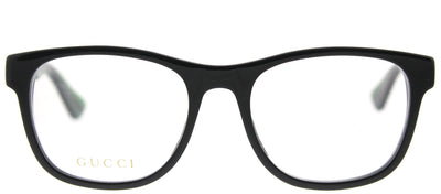 Gucci GG 0004O 002 Square Plastic Black Eyeglasses with Demo Lens