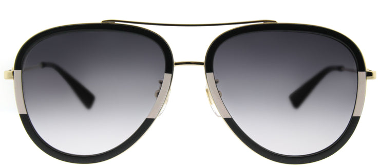 Gucci GG 0062S 006 Aviator Metal Black Sunglasses with Grey Gradient Lens