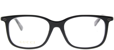 Gucci GG 0157OA 001 Square Plastic Black Eyeglasses with Demo Lens