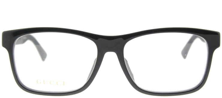 Gucci GG 0176OA 001 Rectangle Plastic Black Eyeglasses with Demo Lens