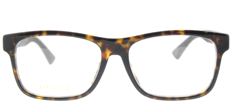 Gucci GG 0176OA 002 Rectangle Plastic Brown Eyeglasses with Demo Lens