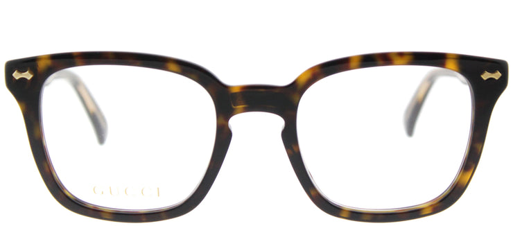 Gucci GG 0184O 002 Square Plastic Brown Eyeglasses with Demo Lens