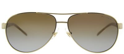 Ralph by Ralph Lauren RA 4004 101/T5 Aviator Metal Gold Sunglasses with Brown Gradient Polarized Lens