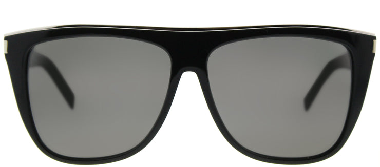 Saint Laurent SL 1 Combi 001 Fashion Plastic Black Sunglasses with Grey Lens
