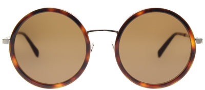 Saint Laurent SL 136 Combi 003 Round Plastic Brown Sunglasses with Brown Lens
