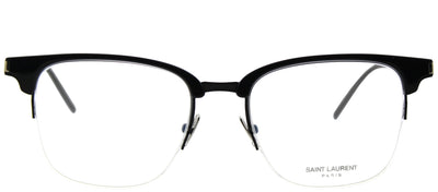 Saint Laurent SL 189 Slim 001 Clubmaster Plastic Black Eyeglasses with Demo Lens