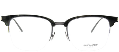 Saint Laurent SL 189 Slim 004 Clubmaster Plastic Grey Eyeglasses with Demo Lens