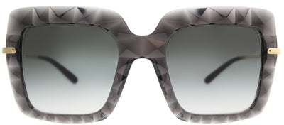 Dolce & Gabbana DG 6111 504/8G Square Plastic Grey Sunglasses with Grey Gradient Lens