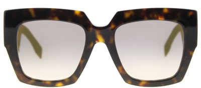 Fendi FF 0263 086 Square Plastic Tortoise/ Havana Sunglasses with Gold Mirror Lens