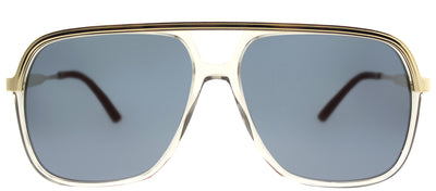 Gucci GG 0200S 004 Fashion Metal Gold Sunglasses with Blue Lens