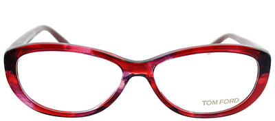 Tom Ford FT 5226 068 Oval Plastic Burgundy/ Red Eyeglasses with Demo Lens