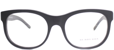 Burberry BE 2169 3464 Round Plastic Black Eyeglasses with Demo Lens