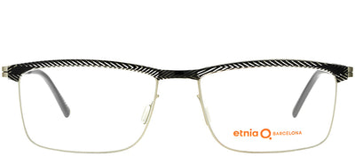 Etnia Barcelona ET Silverstone BKSL Rectangle Metal Black Eyeglasses with Demo Lens