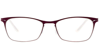 Etnia Barcelona ET Utrecht BXSK Rectangle Metal Burgundy/ Red Eyeglasses with Demo Lens
