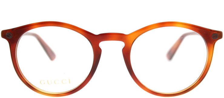 Gucci GG 0121O 003 Round Plastic Tortoise/ Havana Eyeglasses with Demo Lens