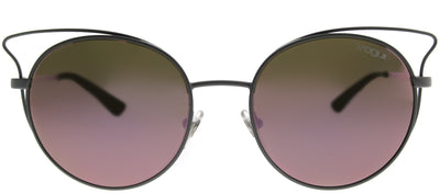 Vogue VO 4048S 50525R Cat-Eye Metal Grey Sunglasses with Pink Mirror Lens