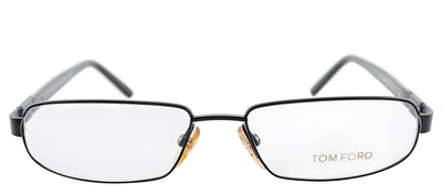 Tom Ford FT 5056 0BR Rectangle Metal Brown Eyeglasses with Demo Lens