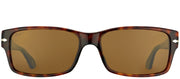 Persol PO 2803S 24/57 Rectangle Plastic Tortoise/ Havana Sunglasses with Crystal Brown Polarized Lens