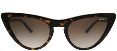 Vogue VO 5211S W65613 Cat-Eye Plastic Tortoise/ Havana Sunglasses with Brown Gradient Lens