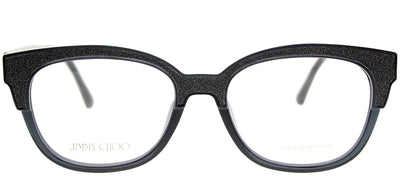 Jimmy Choo JC 177 18R Cat-Eye Plastic Grey Eyeglasses with Demo Lens