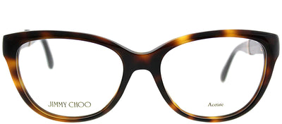 Jimmy Choo JC 179 16Y Cat-Eye Plastic Tortoise/ Havana Eyeglasses with Demo Lens