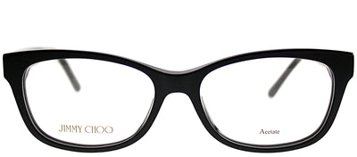 Jimmy Choo JC 193 807 Rectangle Plastic Black Eyeglasses with Demo Lens