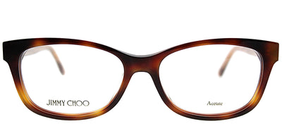 Jimmy Choo JC 193 XLT Rectangle Plastic Tortoise/ Havana Eyeglasses with Demo Lens