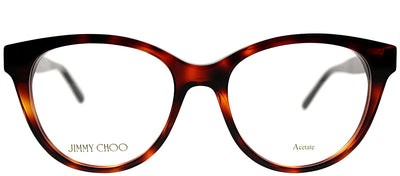 Jimmy Choo JC 194 581 Cat-Eye Plastic Tortoise/ Havana Eyeglasses with Demo Lens