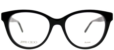 Jimmy Choo JC 194 807 Cat-Eye Plastic Black Eyeglasses with Demo Lens
