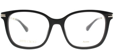 Jimmy Choo JC 195 807 Square Plastic Black Eyeglasses with Demo Lens