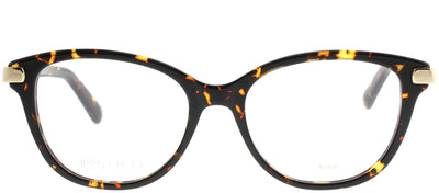 Jimmy Choo JC 196 086 Square Plastic Tortoise/ Havana Eyeglasses with Demo Lens