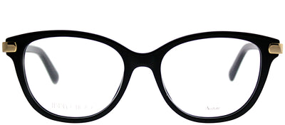 Jimmy Choo JC 196 807 Square Plastic Black Eyeglasses with Demo Lens