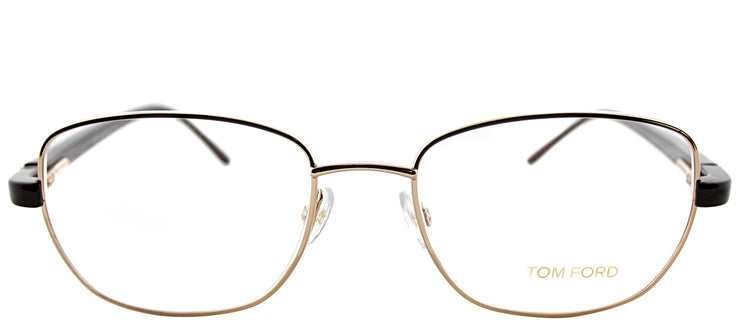 Tom Ford FT 5152 28A Round Metal Gold Eyeglasses with Demo Lens
