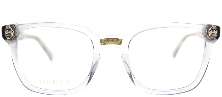 Gucci GG 0184O 005 Square Plastic Grey Eyeglasses with Demo Lens