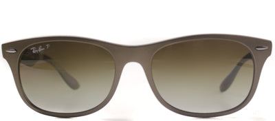 Ray-Ban RB 4207 6033T5 Wayfarer Plastic Brown Sunglasses with Brown Gradient Polarized Lens