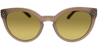 Chloe CE 691S 272 Round Plastic Brown Sunglasses with Green Gradient Lens