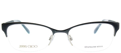 Jimmy Choo JC 106 P8H Semi-Rimless Metal Blue Eyeglasses with Demo Lens