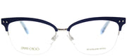 Jimmy Choo JC 138 LYH Square Metal Blue Eyeglasses with Demo Lens