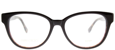 Jimmy Choo JC 141 J3P Cat-Eye Plastic Brown Eyeglasses with Demo Lens