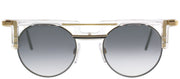 Cazal Cazal 745 005SG Round Plastic Clear Sunglasses with Grey Gradient Lens