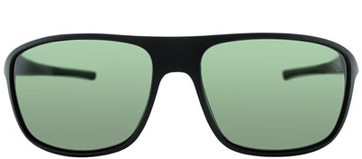 TAG Heuer TAG 6023 301 Sport Plastic Black Sunglasses with Green Polarized Lens