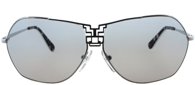 Emilio Pucci EP 110S 045 Aviator Metal Silver Sunglasses with Silver Mirror Lens