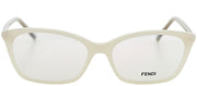 Fendi FE 1020 105 Rectangle Metal Ivory/ White Eyeglasses with Demo Lens