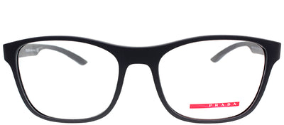 Prada Linea Rossa PS 08GV UFK1O1 Rectangle Plastic Grey Eyeglasses with Demo Lens