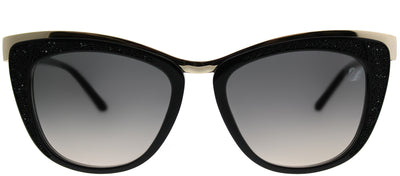 Swarovski SK 0061 01B Cat-Eye Plastic Black Sunglasses with Grey Gradient Lens