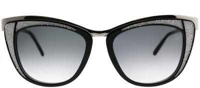 Swarovski SK 0061 05B Cat-Eye Plastic Silver Sunglasses with Grey Gradient Lens