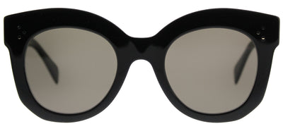 Celine CL 41443 06Z 2M Square Plastic Black Sunglasses with Brown Lens