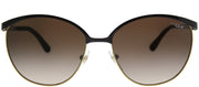 Vogue VO 4010S 997/13 Round Metal Brown Sunglasses with Brown Gradient Lens